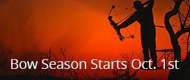 Bow season starts october 1st