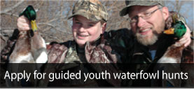 youth waterfowl application